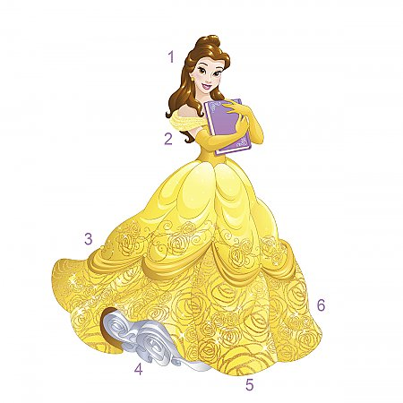 Sparkling Disney Belle Giant Wall Decal (Glitter)