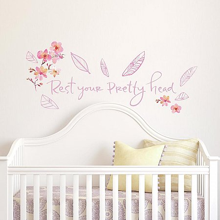KATHY DAVIS PRETTY HEAD QUOTE PEEL AND STICK WALL DECALS