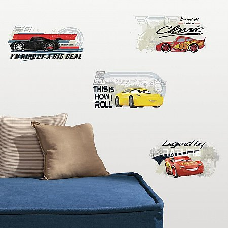 CARS 3 RACING PEEL & STICK WALL DECALS
