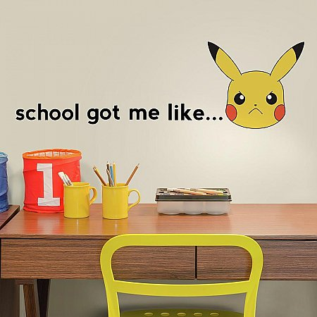 POKEMON PIKACHU FACES PEEL AND STICK WALL DECALS