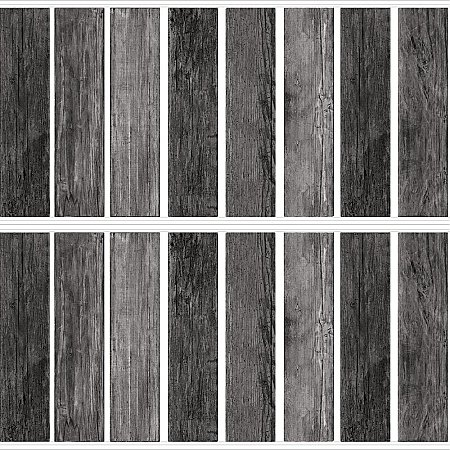 DISTRESSED BARN WOOD PLANK BLACK PEEL AND STICK GIANT WALL DECALS
