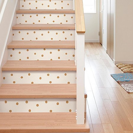 DOTS GOLD PEEL & STICK WALLPAPER