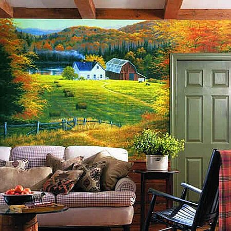 Golden Countryside Mural RA0110M