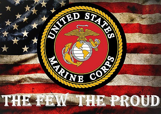 U.S. Marine Corps HUGE Peel & Stick CANVAS Poster