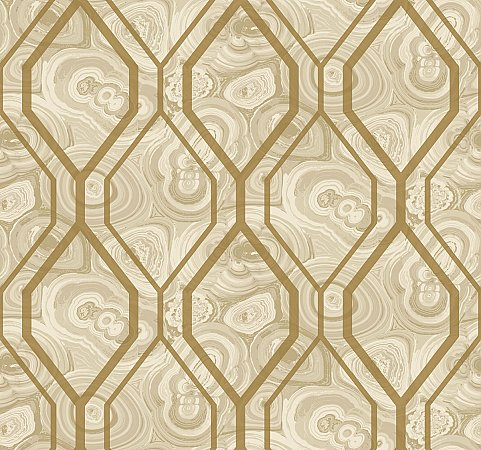 Malachite Trellis Wallpaper