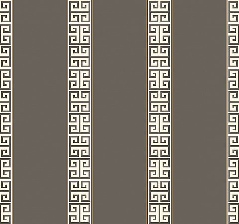 Greek Key Stripe Wallpaper